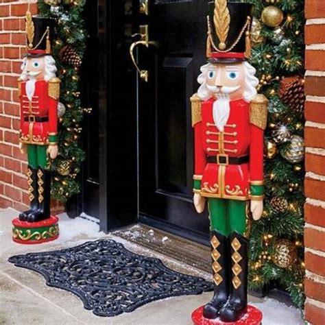 christmas entryway nutcracker toy soldier outdoor indoor