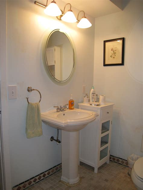 small pedestal sinks for powder room bathroom outstanding rounded wall mount mirror over white