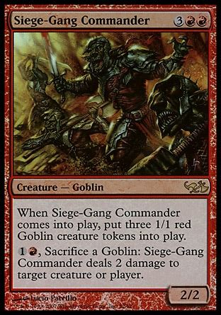 Goblin Commander Deck Wort by Siege Commander Duel Decks Elves Vs Goblins