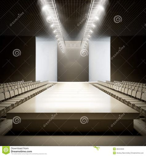 Fashion Empty Runway Royalty Free Stock Images Image
