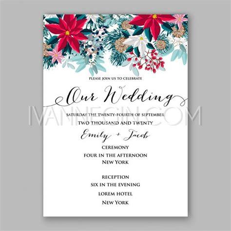 creative christmas party invitations poinsettia wedding invitation card beautiful winter floral ornament invite
