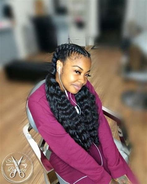 feed  braids  curly ends   braided