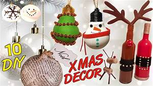 Decoration Noel Diy : 10 diy christmas recycled decoration how to youtube ~ Farleysfitness.com Idées de Décoration