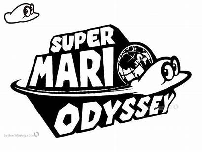 Mario Odyssey Coloring Pages Super Cappy Printable