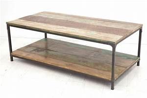 Table Fer Bois : teck home mobilier ~ Teatrodelosmanantiales.com Idées de Décoration