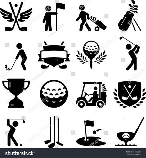 golf icon set vector icons digital stock vektorgrafik
