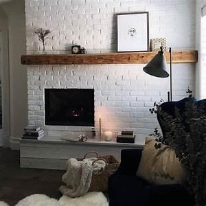 Cheminée En Brique : moulures briques ou carrelage comment d corer un mur blanc ~ Farleysfitness.com Idées de Décoration
