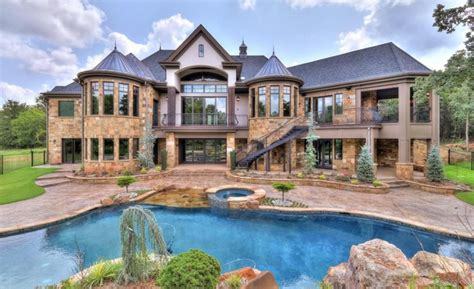 Newly Built Stone Home In Edmond, Oklahoma   Homes of the Rich