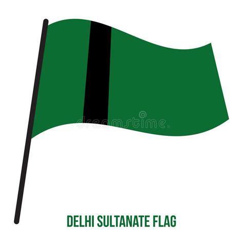 Delhi Sultanate 1235 1554 Flag Waving Vector Illustration