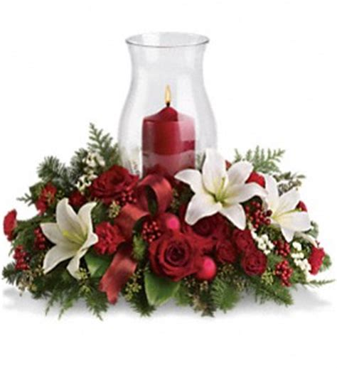christmas centerpieces delivered order your glow centerpiece t115 3a all flowers and gifts delivery canada and the usa