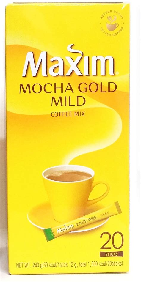 These days, korean know the stick with sugar is not good for their health. Korea Maxim Mocha Gold Mild Instant Coffee Mix Original 20 ...