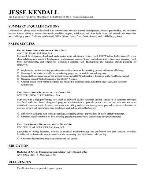 Summary Of Qualifications Sales resume summary it professional sles professional