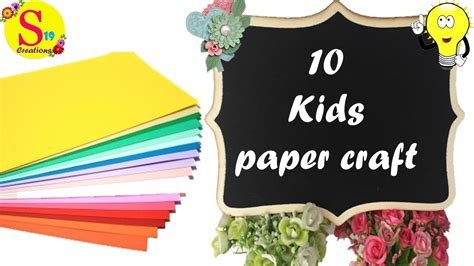 amazing paper crafts kids paper craft ideas easy