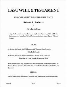 last will testament legal forms software standard With legal will documents for free