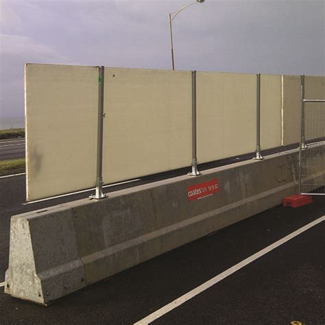 traffic management steel crash barriers  coates hire