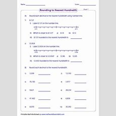 Rounding Decimals Worksheets