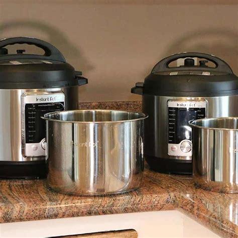 pot instant sizes instapot