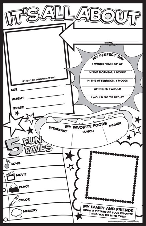 About Me Template For Students by 6 Best Images Of Free Printable All About Me Posters All