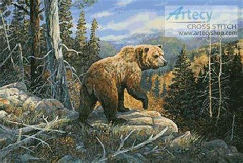 grizzlies domain cross stitch pattern bears