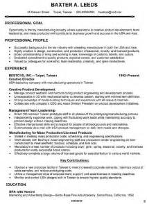 Exle General Manager Resume by General Manager Resume Exle For 28 Images Resume General Resume 28 Images Unforgettable