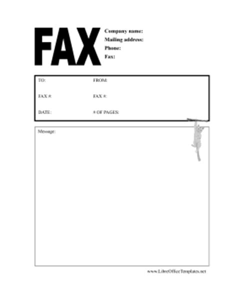 cat fax coversheet