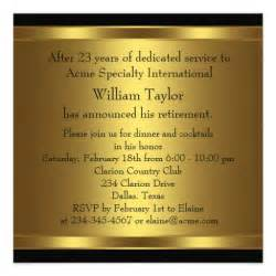 custom wedding invitation mens retirement party invitation black and gold