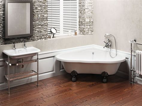 clearwater corner clawfoot bathtub   large