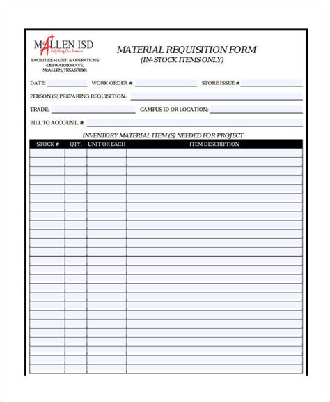requisition form template requisition form template 8 free pdf documents free premium templates