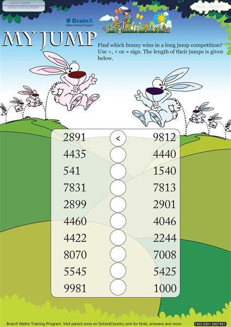 printable numbers math olympiad worksheets  kids