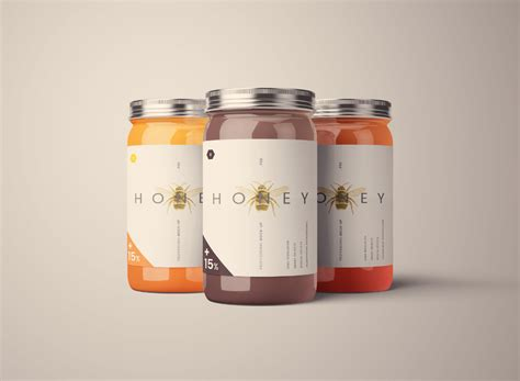 standard glass jar mockups