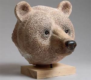 Tete Animaux Deco : jean marie fiori sculpteur t te d 39 ours brun ~ Teatrodelosmanantiales.com Idées de Décoration