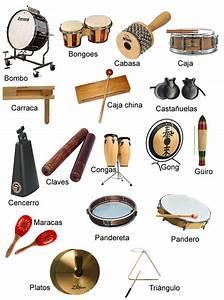 Imágenes de instrumentos musicales de cuerda, viento, percusion y antiguos con nombres