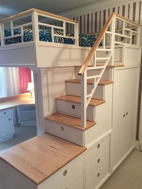 bed closet and desk all in one stair drawers closet