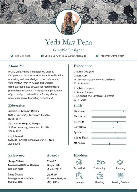 Modern Resume Template Free by Free Modern Resume And Cv Template In Adobe Photoshop
