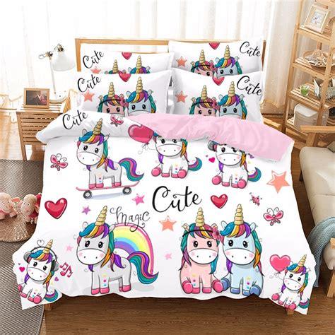 cute unicorn series bedding sets kids duvet cover set