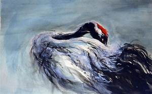Red-crowned Crane #2 Painting by Jennifer Ruderman