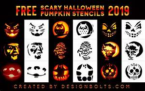 10, Scary, Halloween, Pumpkin, Carving, Stencils, Ideas, Patterns, For, 2019