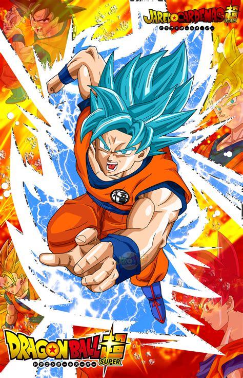 Poster Son Goku / Ssj / Ssj3 / SsGod / ssGss by