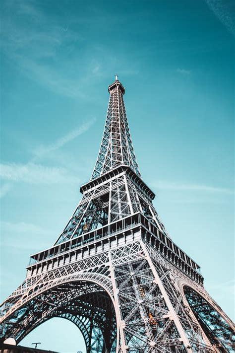 angle photo  eiffel tower  stock photo