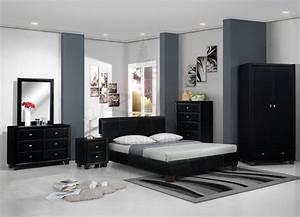 couleur peinture chambre meuble noir With couleur peinture mur 3 chambre orangevert