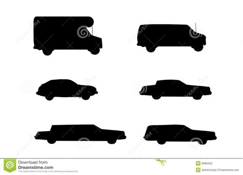 Car Rental Vehicle Types To Rent Stock Vector