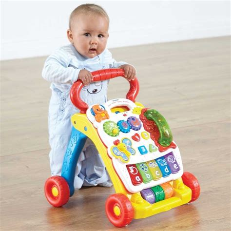 push baby walker toys walking along learning toy walk vtech behind stand sit toddlers help children using learn teach helpful