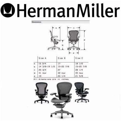 aeron chair dimensions images