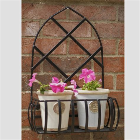outdoor wall planters wrought iron garden steel wall planter made in britain by the