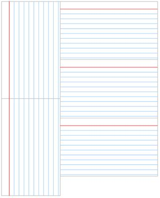 lined index card template microsoft word cards design