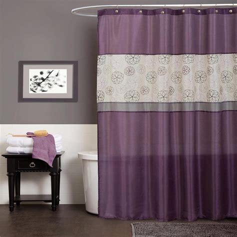 bathroom ideas with shower curtains purple grey gray modern floral fabric shower curtain