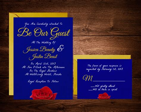 and the beast invitation template and the beast wedding invitations fairytale wedding invitations disney wedding