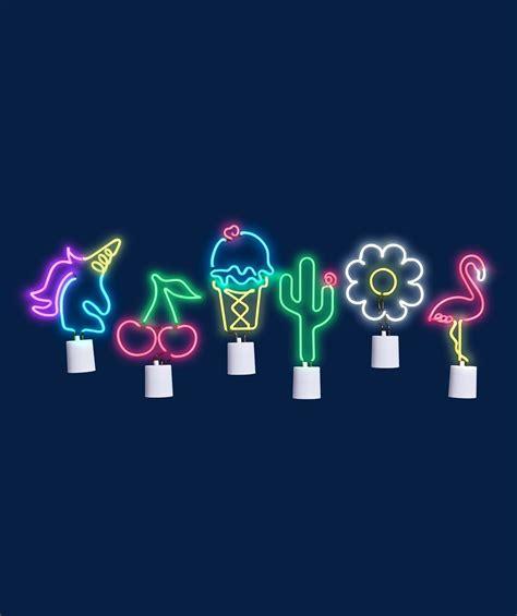 cactus neon led wall light