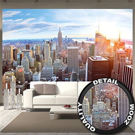 50 wall mural new york skyline mural decoration sunset manhattan penthouse panorama view