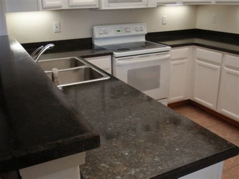 Refinish your laminate countertop to look like granite.